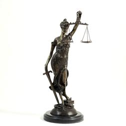 253_Bronze_Lady_Justice_Sculpture_on_a_Marble_Base._16.50_22H_x_5.25_22W_x_5.25_22D_7.45_lb