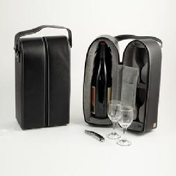 253_Wine_Caddy_w_Two_Glasses,_Stopper_Opener,_Black_Leather_Case