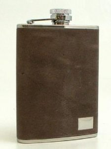 269_6_oz._Stainless_Steel_Flask_in_Vintage_Brown_Leather_with_