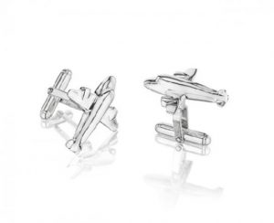 545_Airplane_Cufflinks_In_Sterling_Silver_with_torpedo_backs.