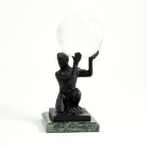 545_Atlas_Ball_Holder,_Bronze_Finished_on_Marble
