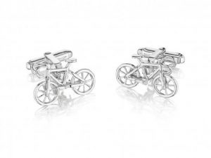 545_Bicycle_Cufflinks_In_Sterling_Silver_with_torpedo_backs.