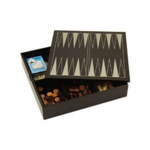 545_Black_Lacquered_Wood_Multi_Game_Set._Includes_Chess_and_Backgammon_with_W