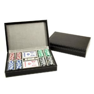 545_Poker_Set_with_200_11.5g_Poker_Chips,_Cards_Poker_Dice_in_Black_Leather_C
