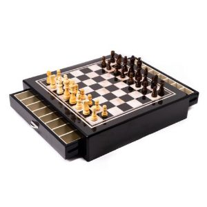 545__22Carbon_Fiber_Mother_of_Pearl_22_Design_Chess_Set_with_Accessory_Drawer