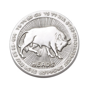 Sterling Silver Heads or Tails Pocket Coin